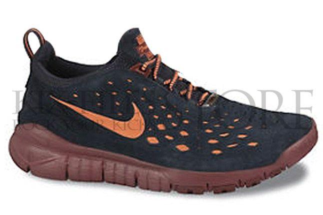 Nike Free Trail Dark Obsidian Team Red Side 1