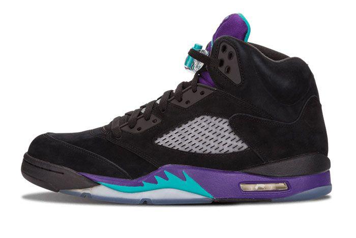Air Jordan 5 Black Grape Original Left Side View