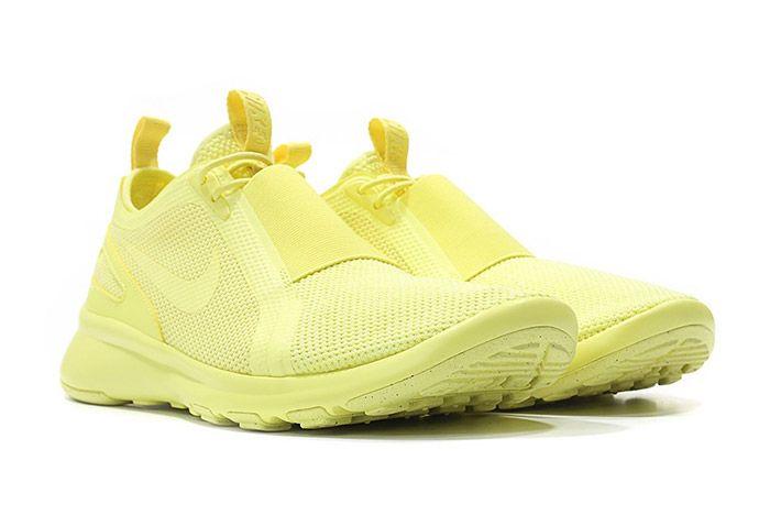 Nike Air Current Slip On Trooper Lemon Chiffon Yellow 3