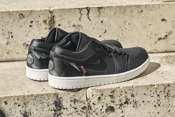 Psg Air Jordan 1 Low Official Release Date Hero Heel