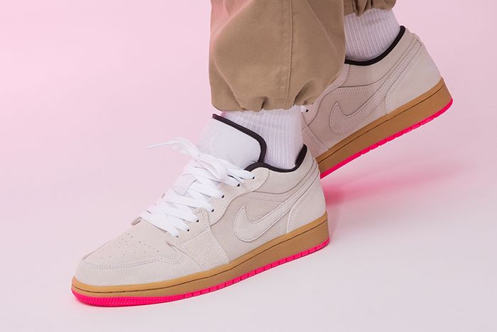 Air Jordan 1 Low Hype Pink 553558 119 Left Side Angle