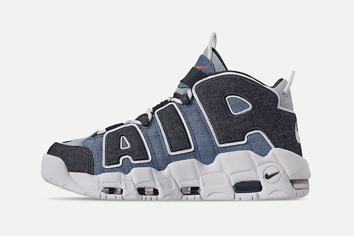 Nike Air More Uptempo Denim Cj6125 100 Release Date Side