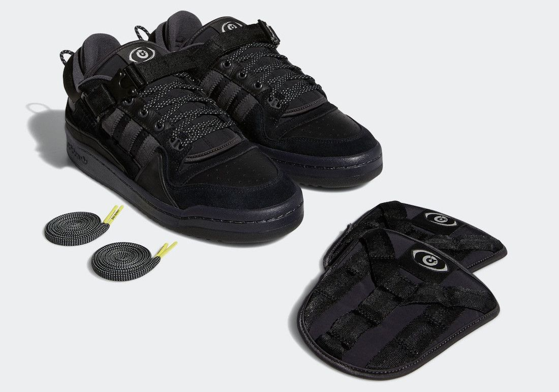 Bad Bunny adidas Forum Buckle Low Core Black GW5021 Release Date