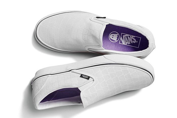 Ghstly Vans Slip On White Above Shot