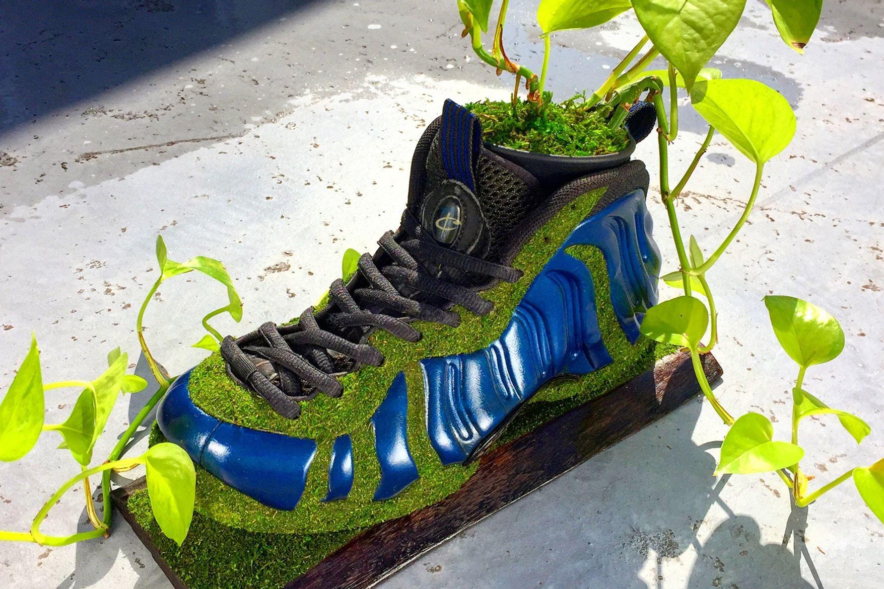 Artist Shoetree Nike Sneakers Sculptural Houseplants 1