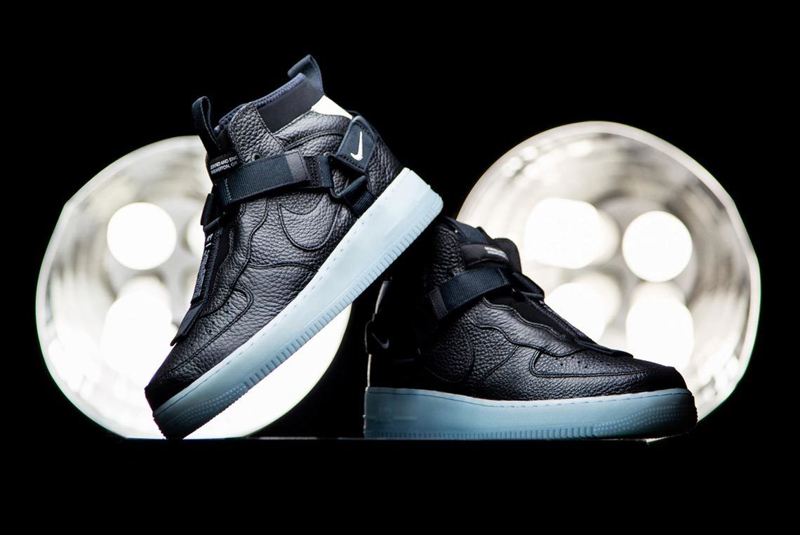 Nike Air Force 1 Mid Utility Black Blue 2