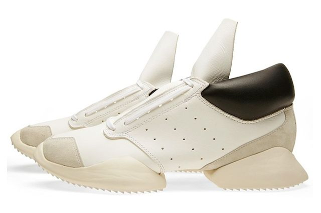Rick Owens Adidas Runner Black White Profile