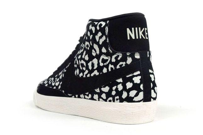 Nike Blazer Mid Black Leopard Quater Back 1