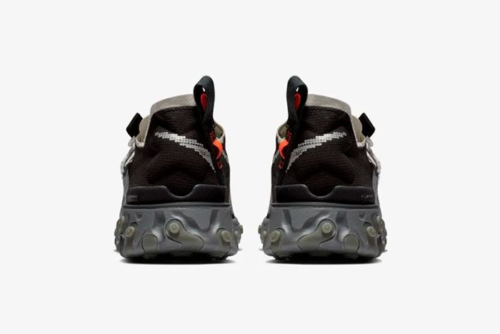 Nike Ispa React Low Black Heel