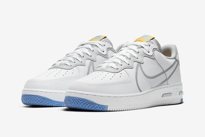 Nike Air Force 1 React Uni Gold Pair
