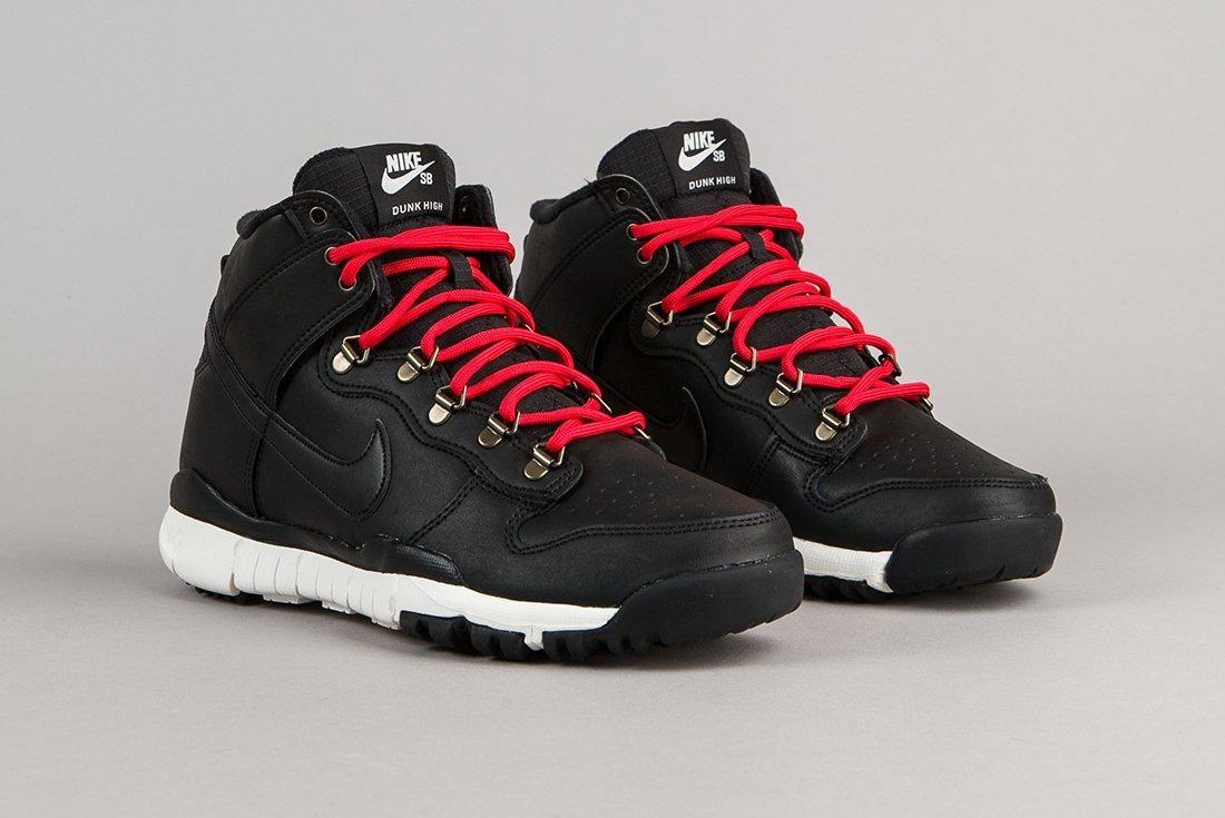 Nike Sb Dunk High Boots Black Sail