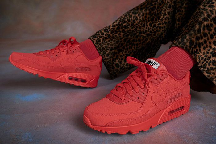 Nike Air Max 90 Premium By You All Red Lateral Side Shot
