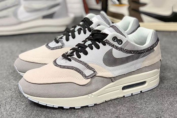 Nike Air Max 1 Inside Out White Black Grey 2 Pair Side