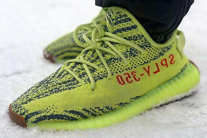 Adidas Yeezy Semifrozen Yellow Stock Numbers 1