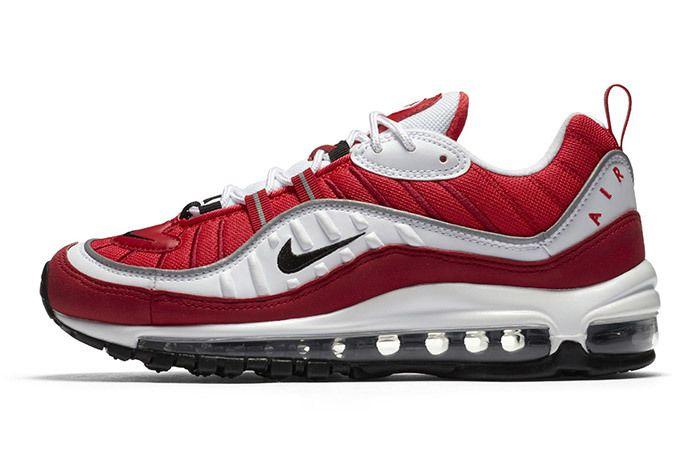 Nike Air Max 98 Womens Red White 3