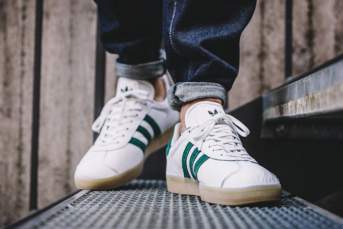 Adidas Gazelle White Green Gum 6