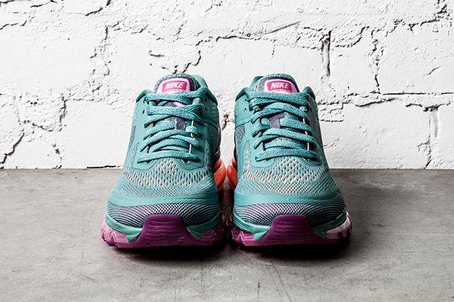 Nike Air Max 2014 Wmns Atomic Orange Bright Magenta Forrest Green 1