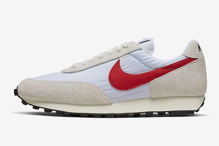 Nike Daybreak White University Red Left