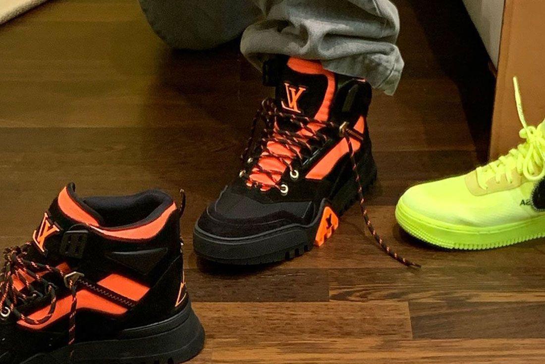 Don C Instagram Louis Vuitton Hiking Boot Side Shot