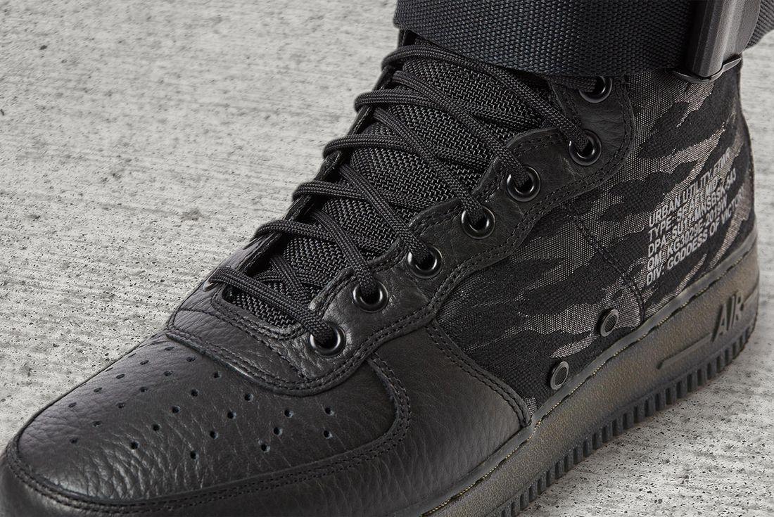Nike Sf Air Force 1 Mid Black5