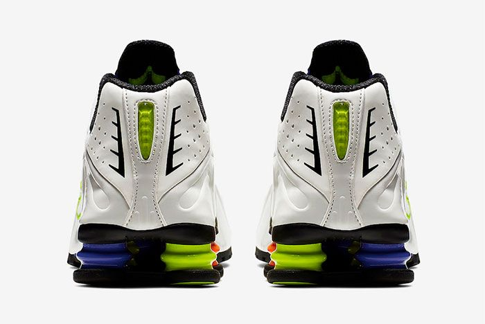 Nike Shox R4 White Flash Ci1955 187 Heel Shot