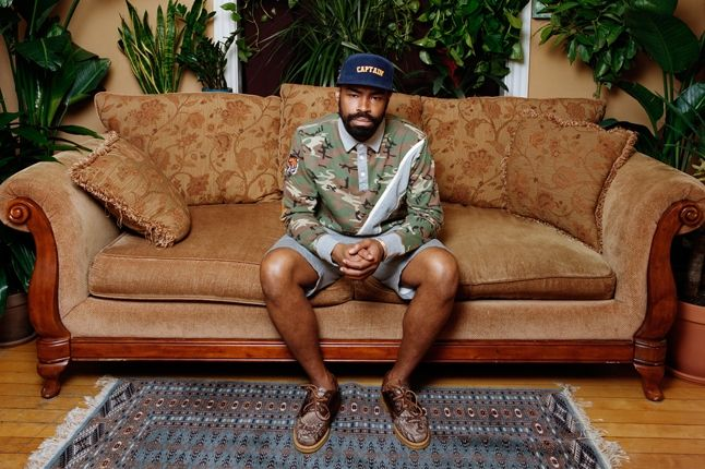 Bodega Ss13 Lookbook Couch Camo Shirt Captain Hat 1
