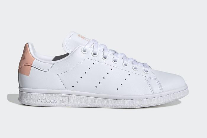 Adidas Stan Smith White Glow Pink Lateral