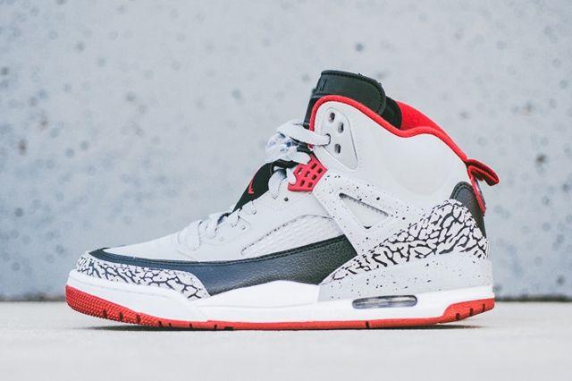Air Jordan Spizike Wolf Grey Gym Red 6