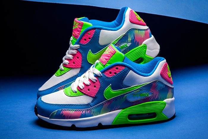 Nike Air Max 90 Print Photo Blueelectric Green Hyper Pink
