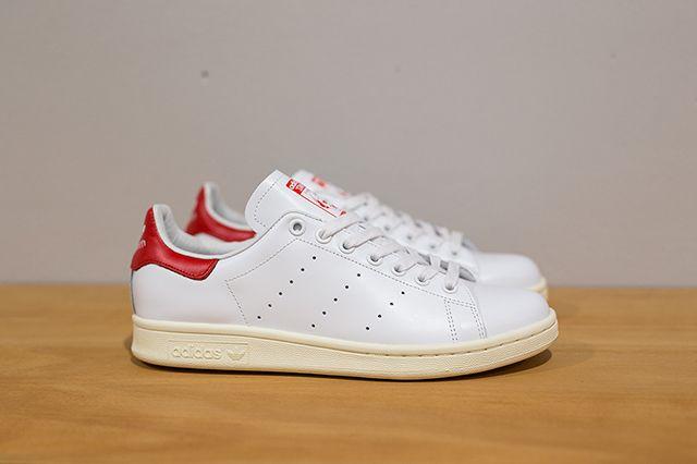 Adidas Stan Smith White White Red