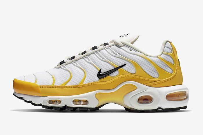 Nike Air Max Plus White Yellow Side Shot 4