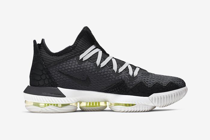 Nike Lebron 16 Low Black Python Medial