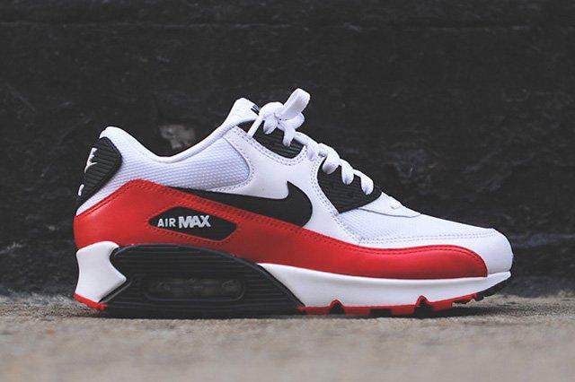 Nike Air Max 90 White Red Black Thumb