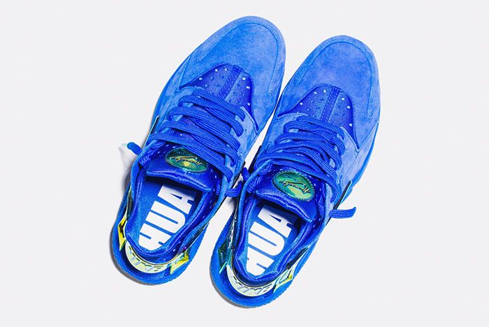 Undefeated Nike La Huarache Crenshaw Blue Gold 2