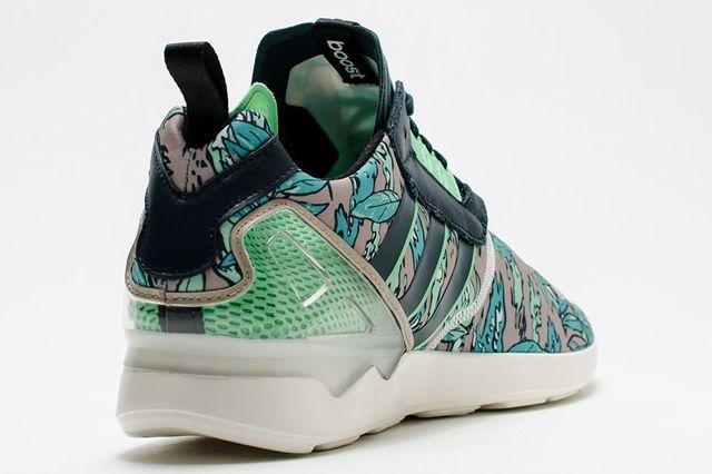 Adidas Zx 8000 Boost Hawaiian Floral Green 3