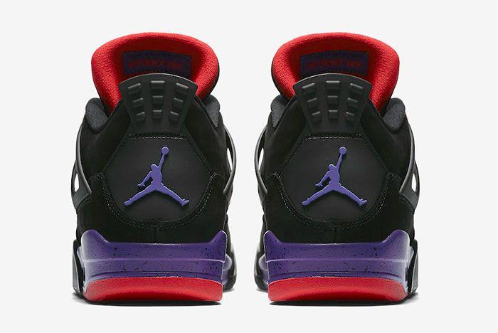 Air Jordan 4 Raptors Pe Drake Heel