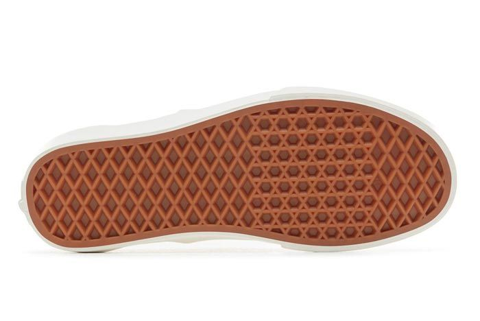 Vans Slip On Woven Brushed Gold Outsole