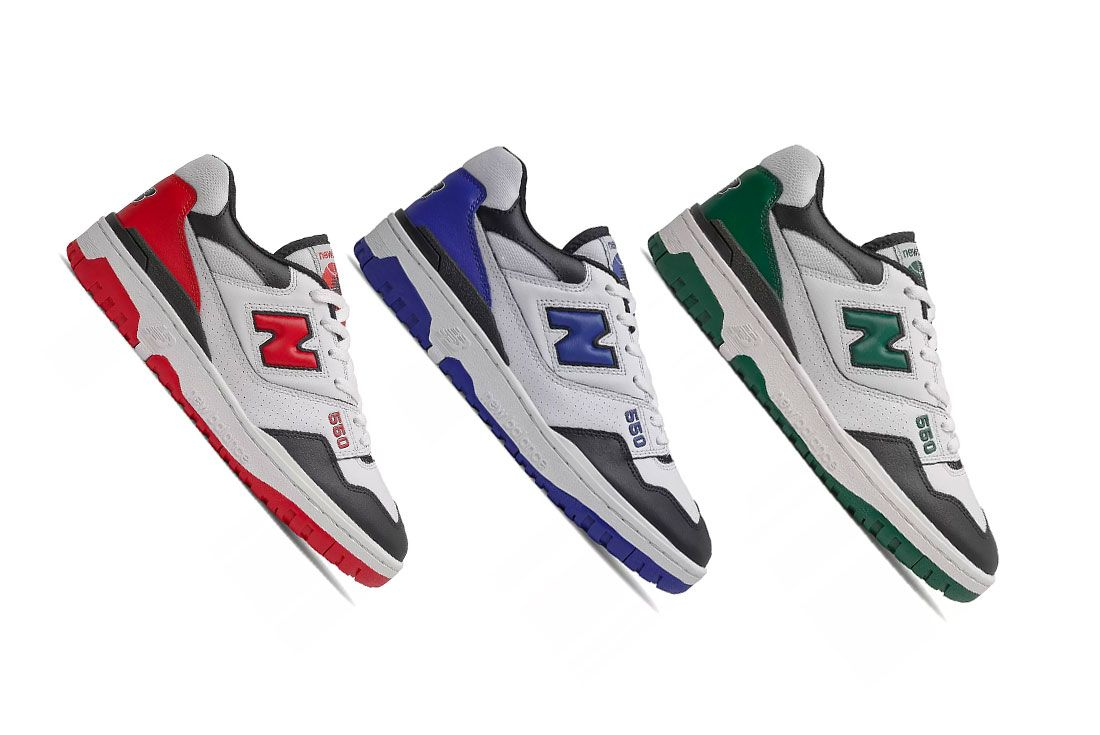 New Balance 550 Shifted Sport Red Blue Green