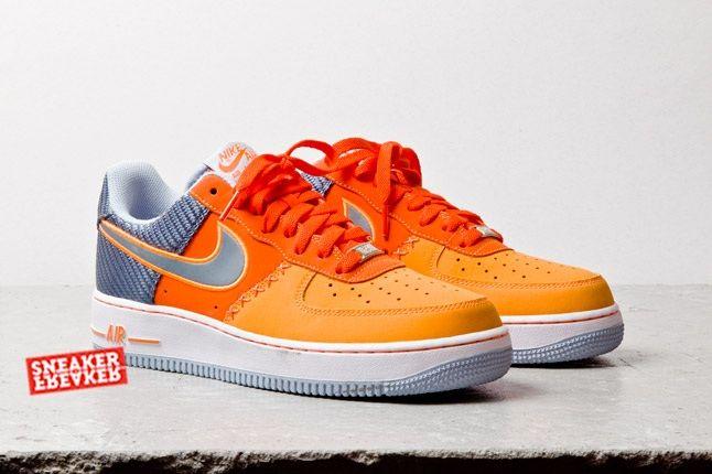 Nike Air Force 1 Low Team Orange Total Orange Toe Quarter