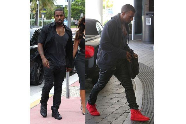Kanye West Balenciaga Sneakers And Yeezy 2