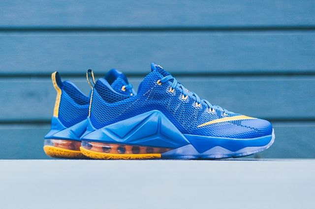 Nike Lebron 12 Low Photo Blue Uni Gold 2