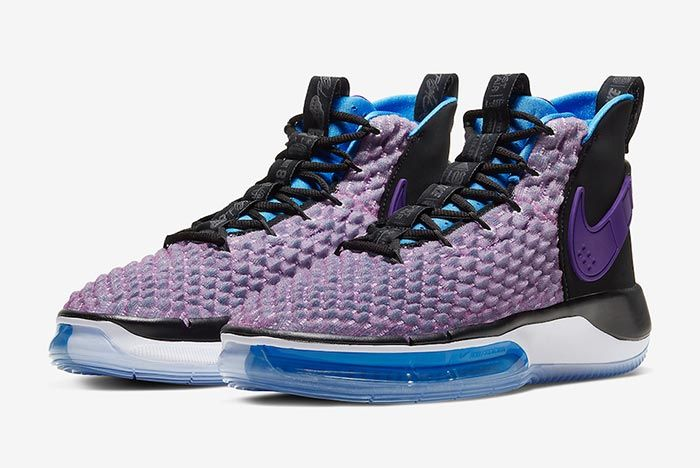 Nike Alphadunk Huarache Grape Three Quarter