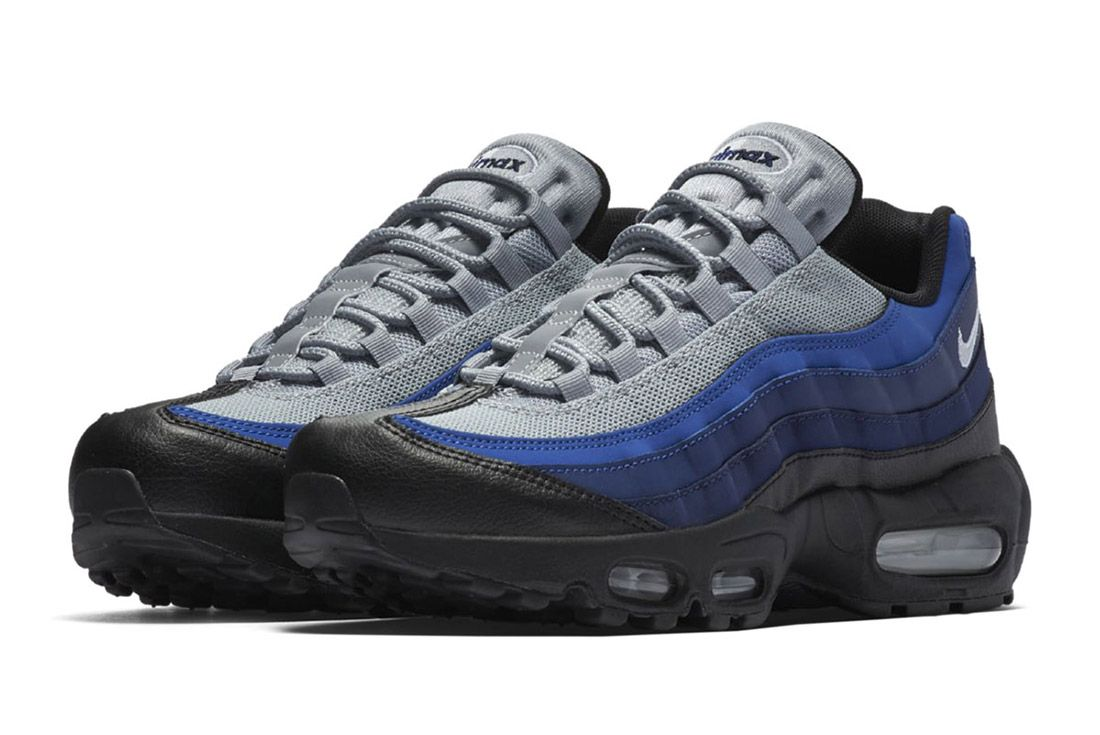 Bike Air Max 95 Essential Black Binary Blue Royal 6