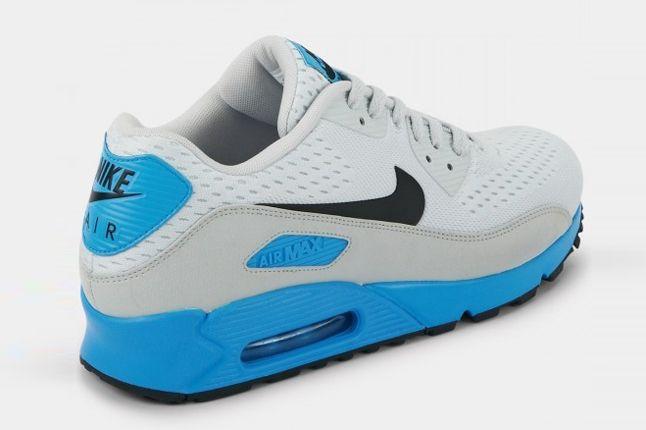 Nike Air Max 90 Premium Em White Blue Reverse Angle 1