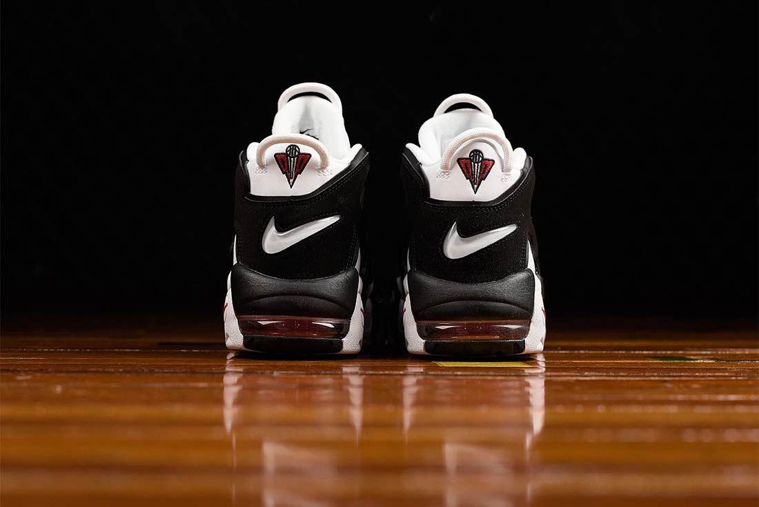 Nike Air More Uptempo Black White Bump 4