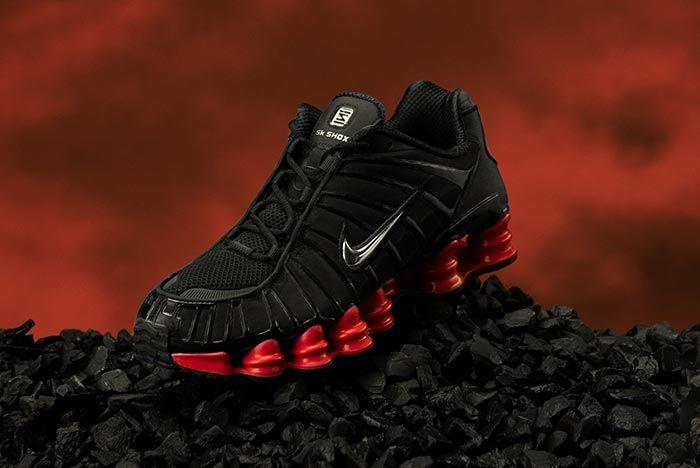 Skepta Nike Shox Black Red On Rocks
