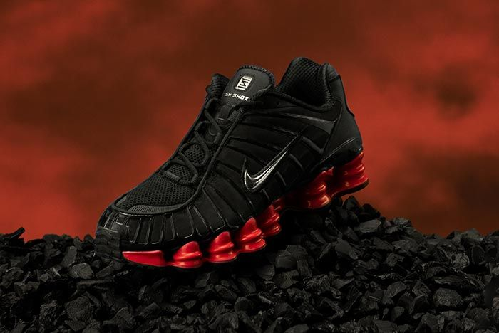 Skepta Nike Shox Black Red On Rocks