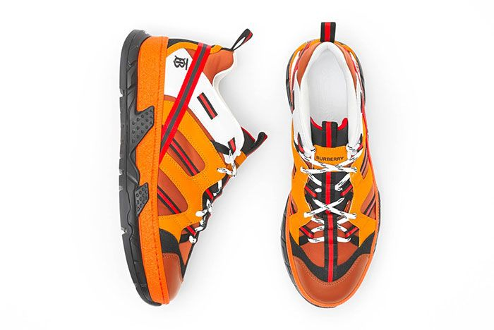 Burberry Union Sneaker Orange Top Lateral