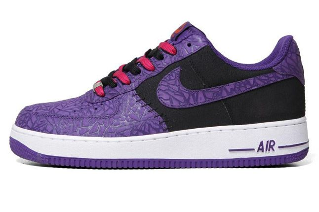 Nike Air Force 1 Le Godzilla Pack Black Purple Profile 1