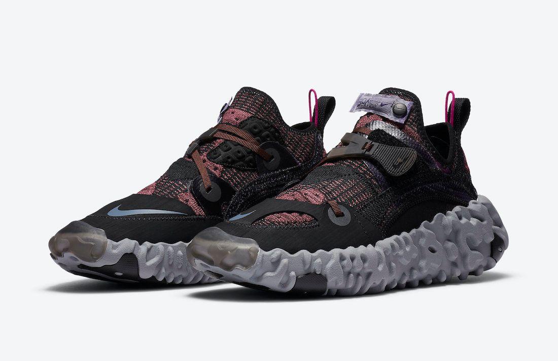 Nike ISPA Overreact Shadowberry Angled